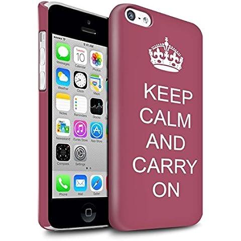 Carcasa/Funda Brillo Broche de Presión en para el Apple iPhone 5C / serie: Mantén la Calma -