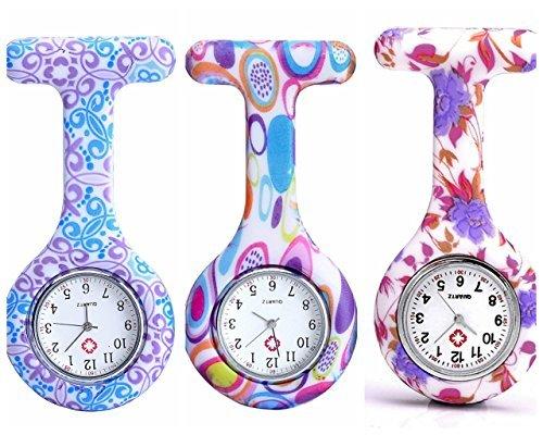 jsdde-3pcs-montre-de-poche-pr-infirmieres-mode-couleur-motifs-en-caoutchouc-de-silicone-fob-montres