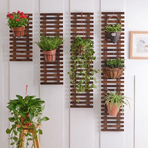 Im Freien Topfpflanzen Wand Flower Rack, Balkon Wand hängen Pflanzenregale Suspension Sets von 4 Wand Blumentopf Rack ( größe : 60*29CM )