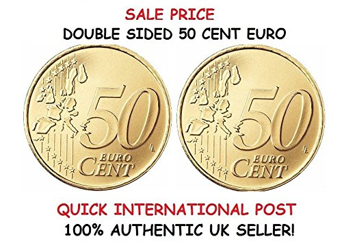 QUICK PICK MAGIC Double Sided 50 Cent Euro Coin [50c Euro] Heads ON Both Sided / Double Headed Coin // BEIDSEITIG 50 Cent Euromünze [ 50c Euro ] KÖPFE beidseitig vorhandenen
