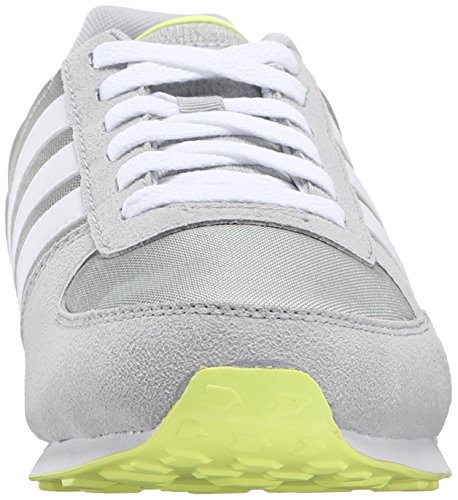 Adidas Neo City Racer W Running Shoe, Gris / Blanc / Frozen Yellow, 5 M Us Grey/White/Frozen Yellow