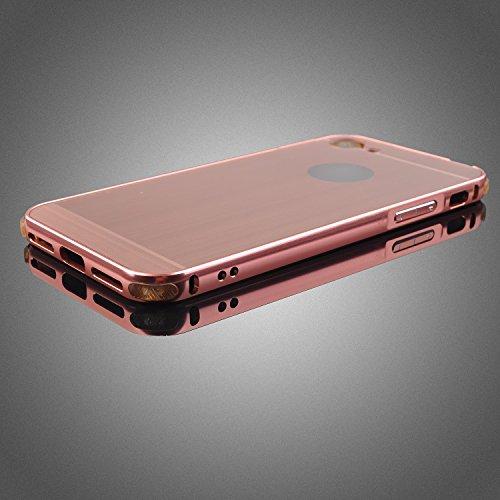 Aluminium iPhone 7 Schutzhüle Bumper Hülle Hard Cover Back Case Tasche TPU Rose Gold