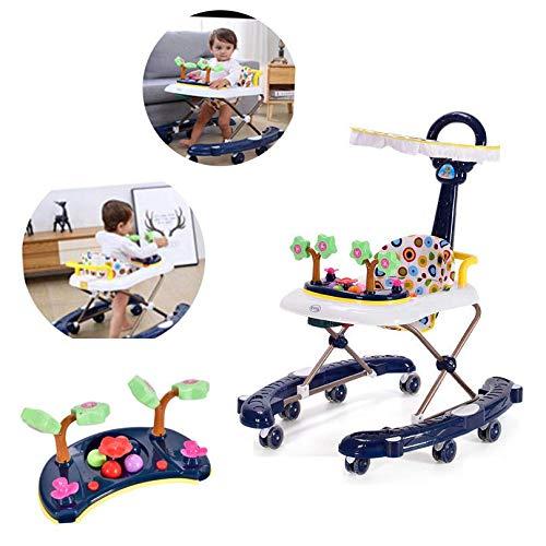 LYXCM Baby Walker 2-In-1 Auto Walker Infant-to-Toddler Rocker, Baby Bouncer Chair Und Rocker, Geeignet Für Kinder (2 In Babys Für Walker Einem)
