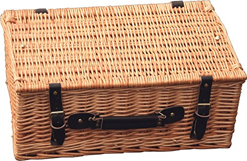 Hay Hampers Empty Large 18 Inch Lidded Wicker Hamper Basket