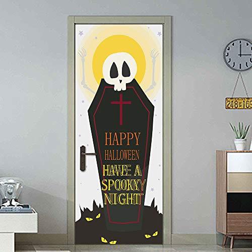 3D Tür Aufkleber Grabstein 77X200CM DIY Kunst PVC wandaufkleber europäische Aufkleber Illustration Dekoration wandbild tapete zuhause selbstklebend