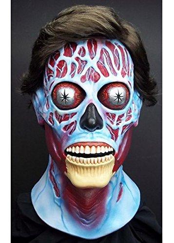 Deluxe Erwachsene sie leben Alien Maske mit Haaren