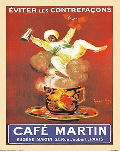 Eugene Cafe Kaffee Martin Paris-Vintage Werbung Poster Reproduktion von Leonetto Cappiello (16x 20) -