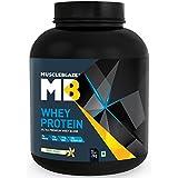 MuscleBlaze 100% Whey Protein - 4.4 lb/2 kg, 60 Servings (Vanilla)