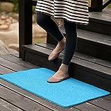 MKSFY Rutschfeste saugfähige Bodenmatte Tür Matte Kann Draht Schneiden Ring PVC-Teppich Matte für Badezimmer Küche Studie Schlafzimmer Korridor Eingangstür Wohnzimmer 40 cm * 60 cm, See Blau