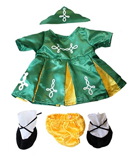 Outfits Irish (Grün Irish Outfit passt 38,1–40,6 cm (40 cm) Teddy)