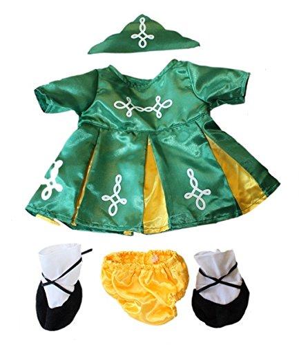 Irish Outfits (Grün Irish Outfit passt 38,1–40,6cm (40cm) Teddy)
