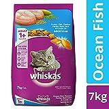 Whiskas Adult Dry Cat Food, Ocean Fish flavour – 7 kg Pack