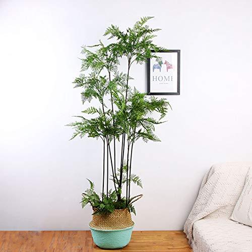 XPKZYSLJ Kunstpflanze Fern Grass Baum Künstlich Grünpflanze Für Weihnachten Dekoration Garten Balkon Hochzeit Party Wand Dekor,150cm/4.9ft