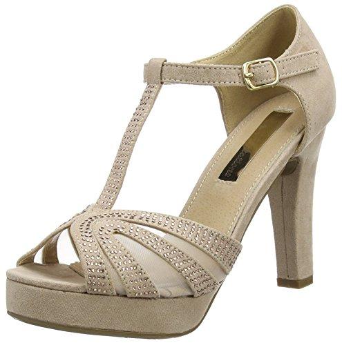 XTI Zapatos de tacón, Sandali con Tacco Donna, Nude, 40