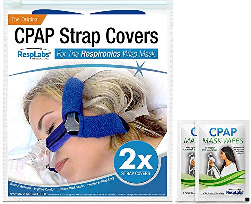 RespLabs CPAP Headgear Covers, Compatible with Respironics Wisp - Fleece Comfort Wraps | Soft Cushion [2 Pack]