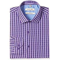 Excalibur Men's Formal Shirt (8907542557103_400016478112_40_Dk-Purple)