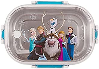 Kids Stainless Steel Insulated 2 Grid School Lunch Box with Spoon and Mini Salad Box