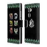 Head Case Designs Offizielle Monster Hunter World Alter Wald Ikonen Brieftasche Handyhülle aus Leder für Huawei Mate S