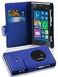 Cadorabo Hülle für Nokia Lumia 1020 - Hülle in KÖNIGS BLAU – Handyhülle mit Kartenfach aus struktriertem Kunstleder - Case Cover Schutzhülle Etui Tasche Book Klapp Style