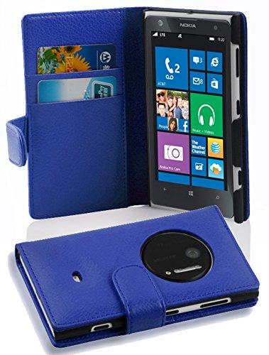 lle in BLAU von Cadorabo - Handyhülle mit Kartenfach Case Cover Schutzhülle Etui Tasche Book Klapp Style in KÖNIGS BLAU (Nokia Lumia 1020 Hard Hülle)