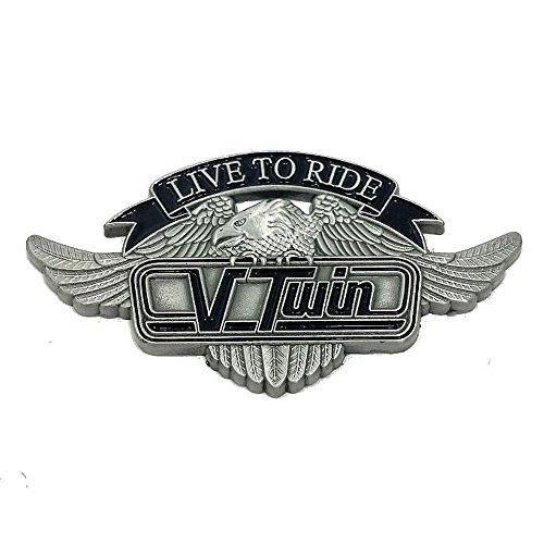 Pin\'s Abzeichen Adler Vtwin Live to ride für jacke und weste biker
