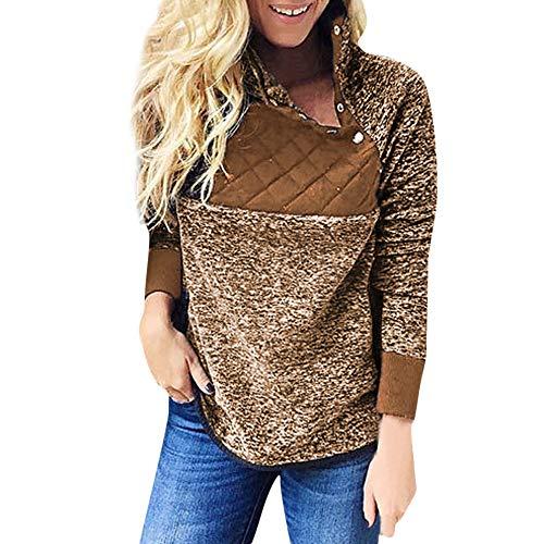 Riou Damen Kapuzenpullover Hoodie Pullover,Frauen Elegante Blusen Sweatshirt Langarmshirt Outerwear...