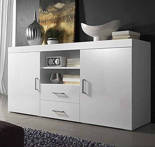 Muebles Bonitos-Aparador de diseño modelo Taby en color blanco