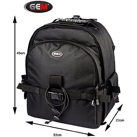 Gem–Mochila con soporte para trípode y protector de lluvia para réflex SLR Nikon D3000, D3100, D3200, D3300, D5000, D5100, D5200, D5300, D5500, D7000, D7100, D7200, DF–Garantía de por vida