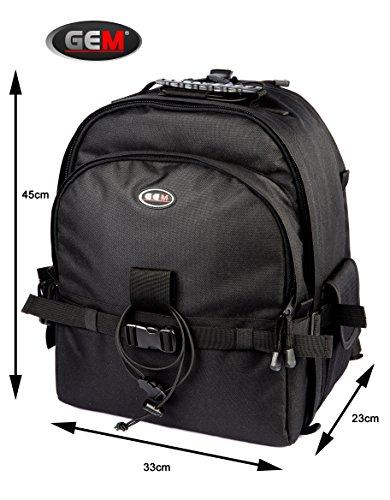 Gem Professional SLR DSLR Rucksack tasche mit Stativ-Halter + Regenschutz für Nikon SLR D40, D40x, D60, D80, D90, D300, D300s, D500, D600, D610, D700, D750, D800, D810, d810a, D800E, lebenslange Garantie -