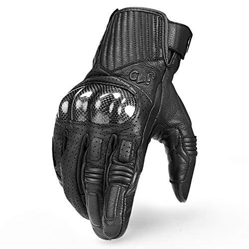 Inbike guanti da moto in pelle resisitente protettivo traspirante e impermeabile touchscreen per uomo (xl)