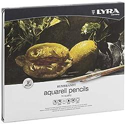 LYRA Rembrandt Aquarell Lápices, 24 Unidades, Color Estuche metálico, (2011240)