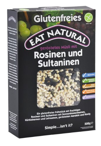 Eat Natural Müsli mit Rosinen & Sultaninen, 1er Pack (1 x 500 g)