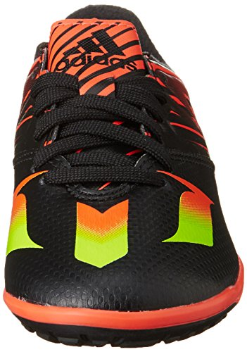adidas Messi 15.3 Tf J, Chaussures de Football Mixte Bébé Multicolore - Negro / Verde / Rojo (Negbas / Versol / Rojsol)