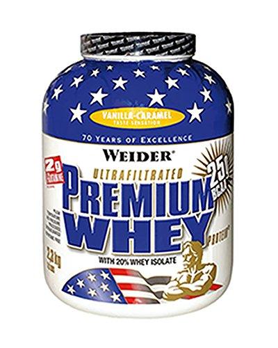 Karamell-protein (Weider, Premium Whey Protein, Vanille-Karamell, 1er Pack (1x 2,3 kg))