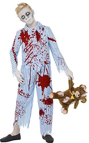 Smiffys Kinder Zombie Pyjama Jungen Kostüm, Oberteil und Hose, Größe: M, 23353