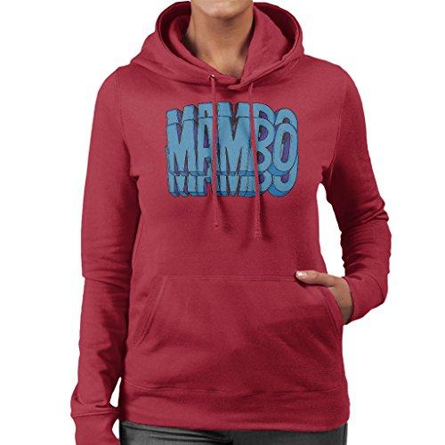 Mambo Triple Womens Hooded Sweatshirt Cherry Red