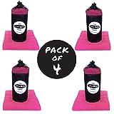 4er Pack – LITTLE BIG TOWEL Mikrofaser-Handtuch für Sport, Freizeit & Reise – Großes, Schnelltrocknendes Campingtuch/Sporttuch/Badetuch – Maße: 150cm x 80cm (Rosa)