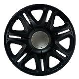 16 Zoll Radzierblenden NASCAR BLACK (Schwarz). Radkappen passend für fast alle FORD wie z.B. Focus C-Max