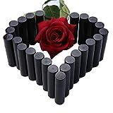 Exoh 25PCS vuoto Circle PP labbro balsamo tubi contenitori con tappo (nero)
