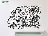 zhuziji Alice Au Pays des Merveilles Autocollant Mural pour Enfants Chambres Amovible...
