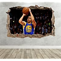 3D Stephen Curry Smashed Breakout Wall Sticker Boys Girls Bedroom Basketball - Extra Large Landscape 100cm (w) X 70cm (h) preiswert