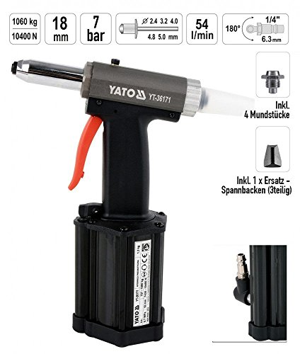 Yato yt-36171 - Pneumatic Riveting Tool 2,4-5,00 mm