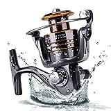 Plusinno® Angelrolle Spinnrolle Süßwasser Salzwasser mit 5,2: 1 Gangsverhältnis Metallgehäuse links/rechts austauschbar Klappgriff...