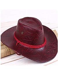 Philip Peacoc 2018 Estate Vento Americano Cappello da Cowboy Occidentale Cappello  di Pelle Cavaliere Cappello Esterno 51300ba4b460