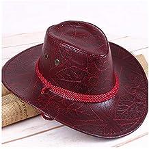 ARTOP American Wind Great Western Cowboy Hat Sombrero de Caballero de Cuero Sombrero  al Aire Libre a08d15963e8