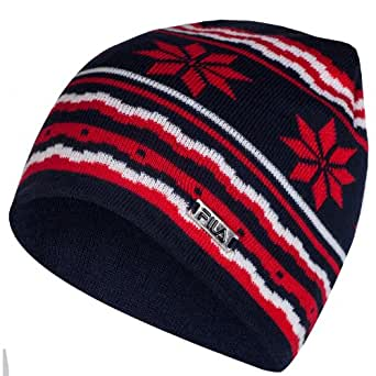 Fila Mauro Knitted Nordic Beanie Hat - Navy