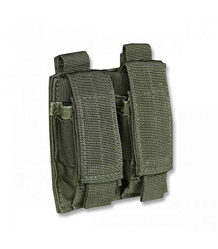 Miltec Double Porte chargeurs pour Pistolet Olive (Fixation Molle) Adulte Unisexe, Vert OD, Taille Unique