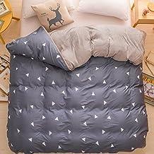 Todos algodón solo funda nórdica/Colcha de franela de terciopelo coral/Otoño/invierno acolchado tejido sueding puro algodón acolchado-B 150*200cm(59x79inch)