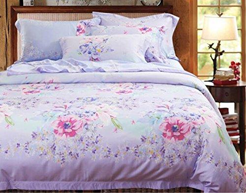 Neue Bettwäsche Bettwäsche Seide vier Sätze von Bettwäsche, Eis Seide glatte nackte Bett Sätze von vier Sätze von Bettwäsche (Rüschen-bett-satz Twin)