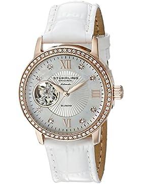 Stuhrling Original 710.03 Damen-Armbanduhr Analog Automatik Leder